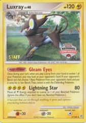 Luxray 7/130 Non-Holo STAFF Promo - 2008 National Championships