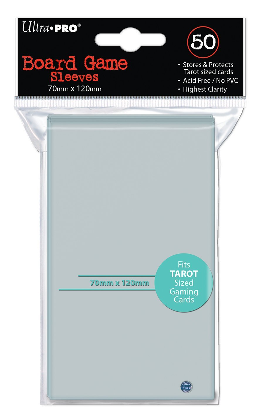 Ultra Pro 70mm X 120mm Tarot Board Game Sleeves 50ct