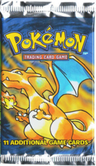 Pokemon Base Set Unlimited Edition Booster Pack - Charizard Artwork - LONG PACK