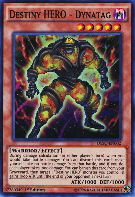 Destiny Hero Dynatag Deso En002 Super Rare 1st