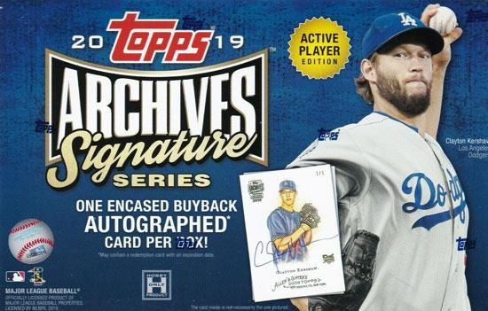 2019 Topps Archives Signature Series Mlb Baseball Hobby Box Active