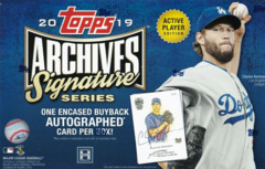 2019 Topps Archives Signature Series MLB Baseball Hobby Box ACTIVE PLAYER EDITION