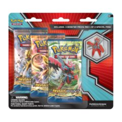 Pokemon XY9 Breakpoint 3-Booster Blister Pack - Mega Scizor Pin