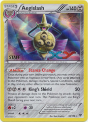 Aegislash 86/146 Sheen Holo STAFF Promo - XY Prerelease