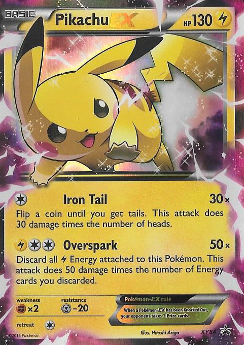 Pikachu EX XY84 Holo Promo - Pikachu Legendary Collection Exclusive