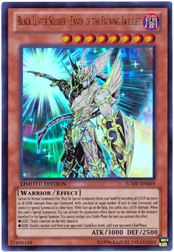 Envoy of the Evening Twilight JUMP-EN069 Ultra Rare MINT! Black Luster Soldier