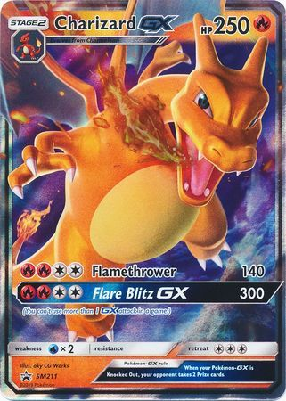 Charizard-GX SM211 Wave Holo Promo - Hidden Fates Collection