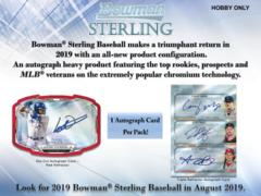 2019 Bowman Sterling MLB Baseball Hobby Box