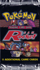 Pokemon Team Rocket Unlimited Edition Booster Pack - Collage Artwork - LONG PACK