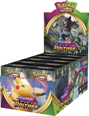 Pokemon SWSH4 Vivid Voltage Prerelease Build & Battle Kit Display Box (10 Kits)