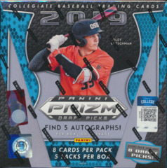 2019 Panini Prizm Draft Picks Collegiate Baseball Hobby Box