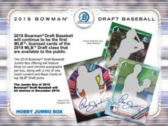 2019 Bowman Draft MLB Baseball Hobby HTA Jumbo Box