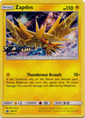 Zapdos SM159 Wave Holo Promo - SM9 Team Up Prerelease