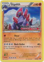 Gigalith 53/98 Tinsel Holo Promo - Emerging Powers Prerelease