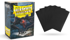 Dragon Shield Matte Standard-Size Sleeves - Black - 100ct