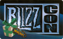 2008 Blizzcon World of Warcraft Anaheim Exclusive Polar Bear Loot Code Card
