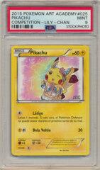 2015 Pokemon Art Academy Promo Pikachu (Lily-Chan) PSA 9 MINT