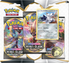 Pokemon Sword & Shield SWSH2 Rebel Clash 3-Pack Blister - Duraludon Promo