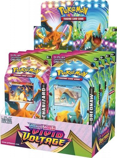 Pokemon SWSH4 Vivid Voltage Theme Deck Display Box