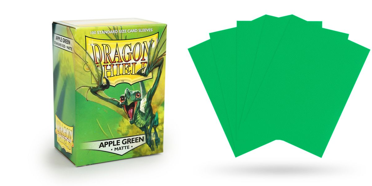 POKEMON DRAGON SHIELD Matte Apple Green Sleeves WOW MTG 100