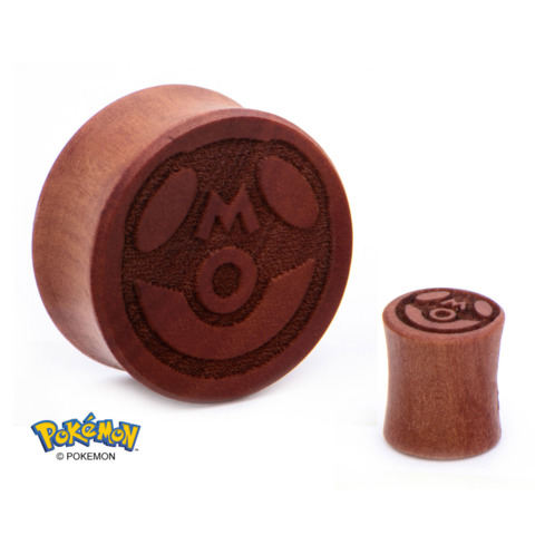 "Master Ball Wood Ear Plug – 3/4"""