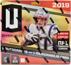 2019 Panini Unparalled NFL Football Hobby Box