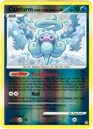 Castform Snow-Cloud Form - 50/146 - Uncommon - Reverse Holo
