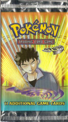 Pokemon Gym Heroes Unlimited Edition Booster Pack - Brock Artwork