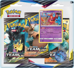 Pokemon Sun & Moon SM9 Team Up 3-Booster Blister Pack - Deoxys Promo