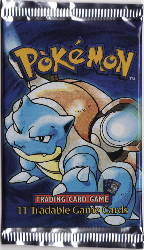 Pokemon Base Set Shadowless Booster Pack - Blastoise Artwork