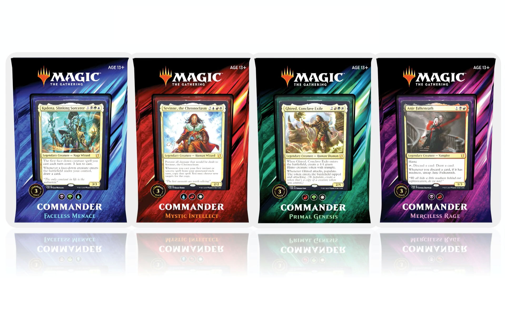 MTG Commander 2019 Decks: Set of 4