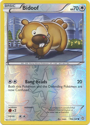 Bidoof - 106/124 - Common - Reverse Holo