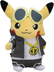 Japanese Pokemon Center Pikachu Boss Guzma Costume Plush