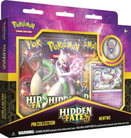 Pokemon Hidden Fates Mewtwo Pin Collection