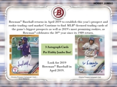 2019 Bowman MLB Baseball HTA Jumbo Box