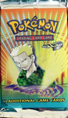Pokemon Gym Heroes Unlimited Edition Booster Pack - Lt. Surge Artwork