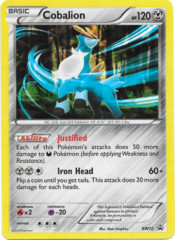 Cobalion BW72 Cracked Ice Holo Promo - Legends of Justice Box