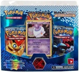 Pokemon Black & White BW3 Noble Victories 3-Booster Blister Pack - Litwick