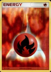 Fire Energy Unnumbered Acid Wash Holo Promo - 2007 Pokemon League