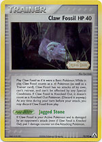 Claw Fossil - 78/92 - Common - Reverse Holo