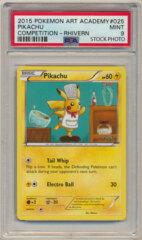 2015 Pokemon Art Academy Promo Pikachu (Rhivern) PSA 9 MINT
