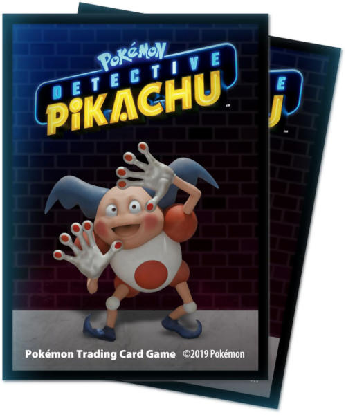 Ultra Pro Standard Size Pokemon Sleeves - Detective Pikachu Mr. Mime - 65ct