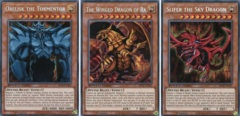Set of 3 God Cards (Obelisk, Ra, Slifer) Speed Duel: Battle City