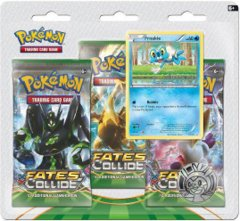Pokemon XY10 Fates Collide 3-Booster Blister Pack - Froakie Promo