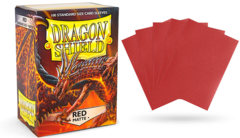 Dragon Shield Matte Standard-Size Sleeves - Red - 100ct