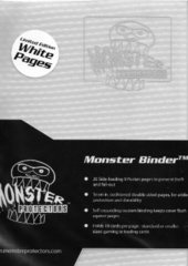 Monster Protectors 4-Pocket Binder - Holo White w/ White Pages