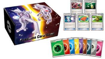 Japanese Pokemon XY COOL Storage Box with Energies - Mega Mewtwo X & Mega Mewtwo Y