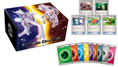 Japanese Pokemon card game with energy & card box Mega Mewtwo X & Mega Mewtwo Y