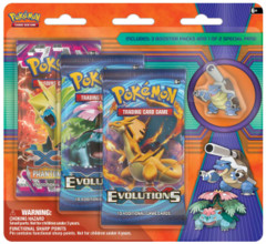 Pokemon XY12 Evolutions 3-Booster Blister Pack - Mega Blastoise Pin