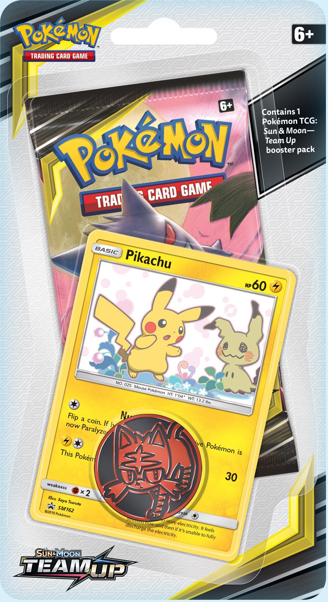 Pokemon SM9 Team Up Checklane Blister Pack - Pikachu